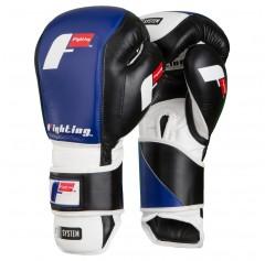 Перчатки тренировочные S2 GEL FIERCE (16 oz, черный/синий)