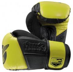 Hayabusa Перчатки боксерские Tokushu® Regenesis 12oz Gloves Black / Yellow (12 oz)