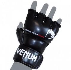 Venum Перчатки ММА Impact MMA Gloves - Skintex Leather Black (L/XL, черный)